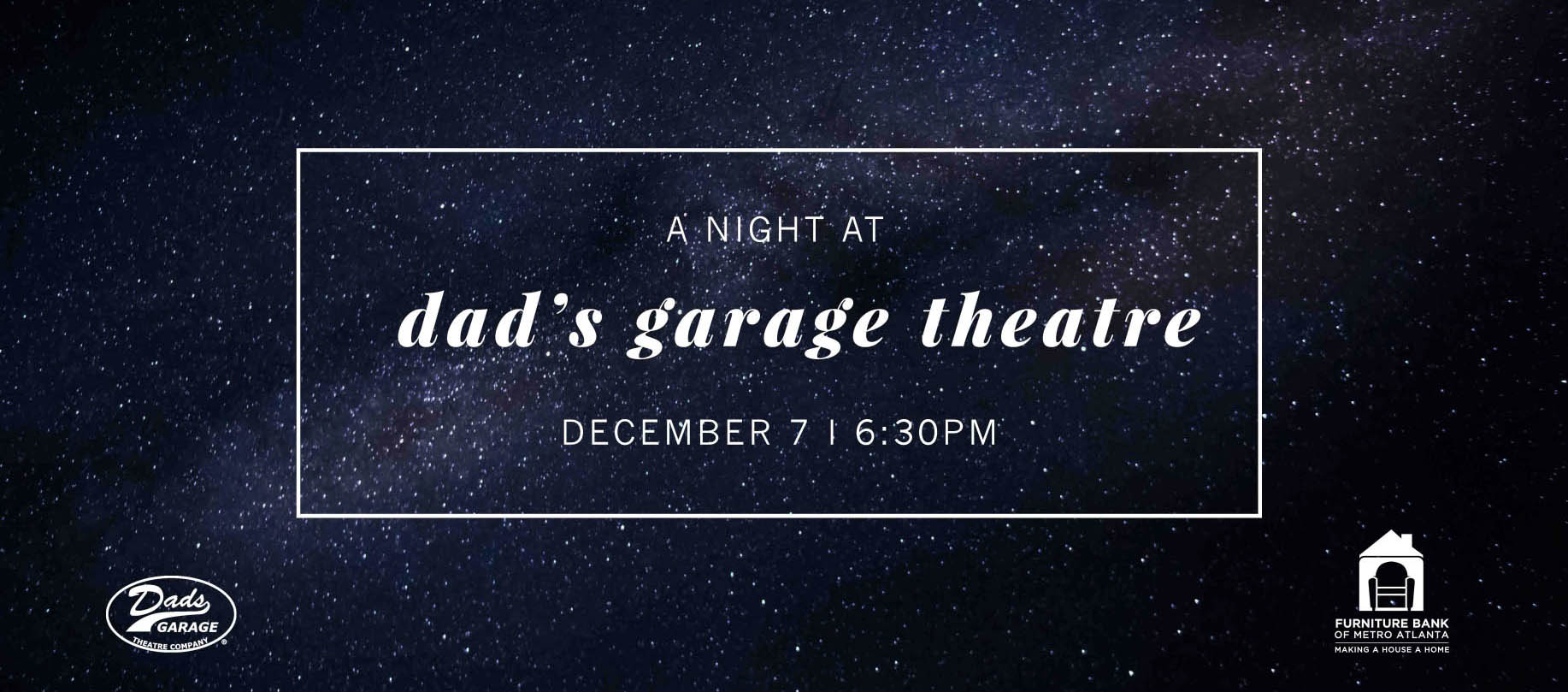 Join The Furniture Bank Of Metro Atlanta For A Night Of Comedy And Charity  At Dadu0027s Garage Theatre Company! Weu0027ll Start The Night With A Pre Show  Party And ...